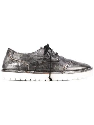 metallic women shoes leather grey