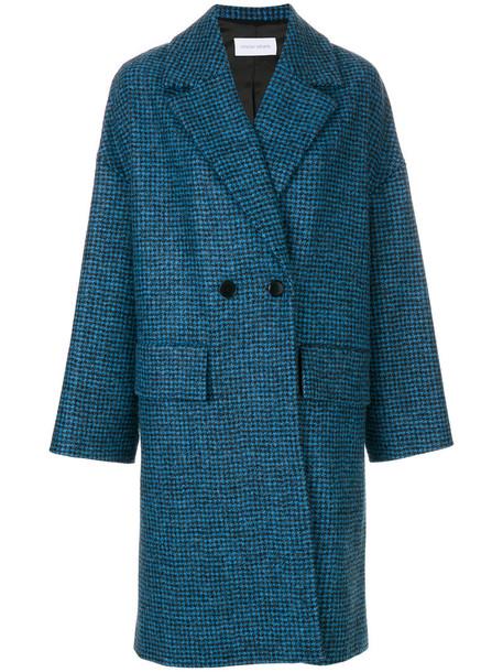 Christian Wijnants coat double breasted women blue wool
