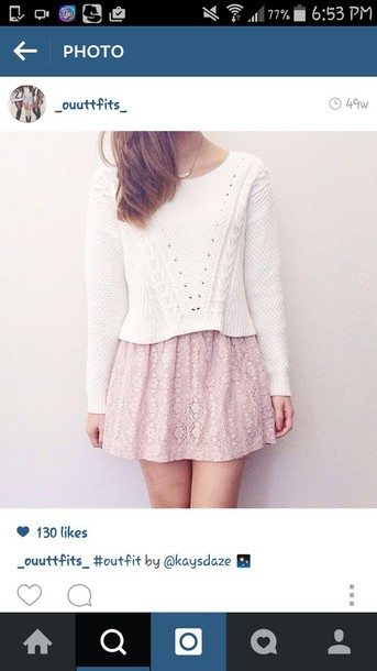 sweater white knit sweater