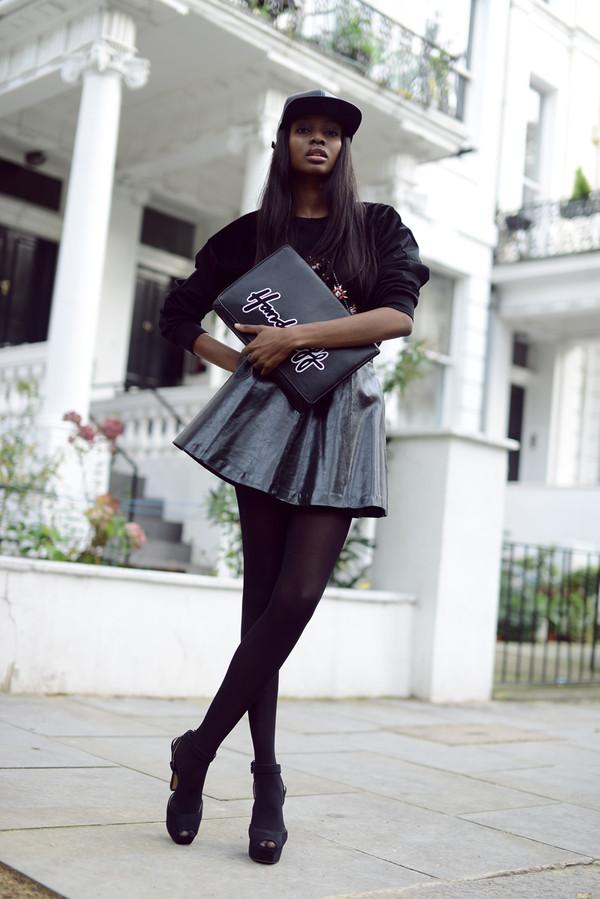 bisous natasha sweater skirt shoes bag