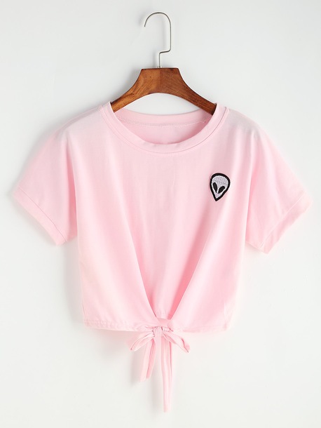 top alien pink cute