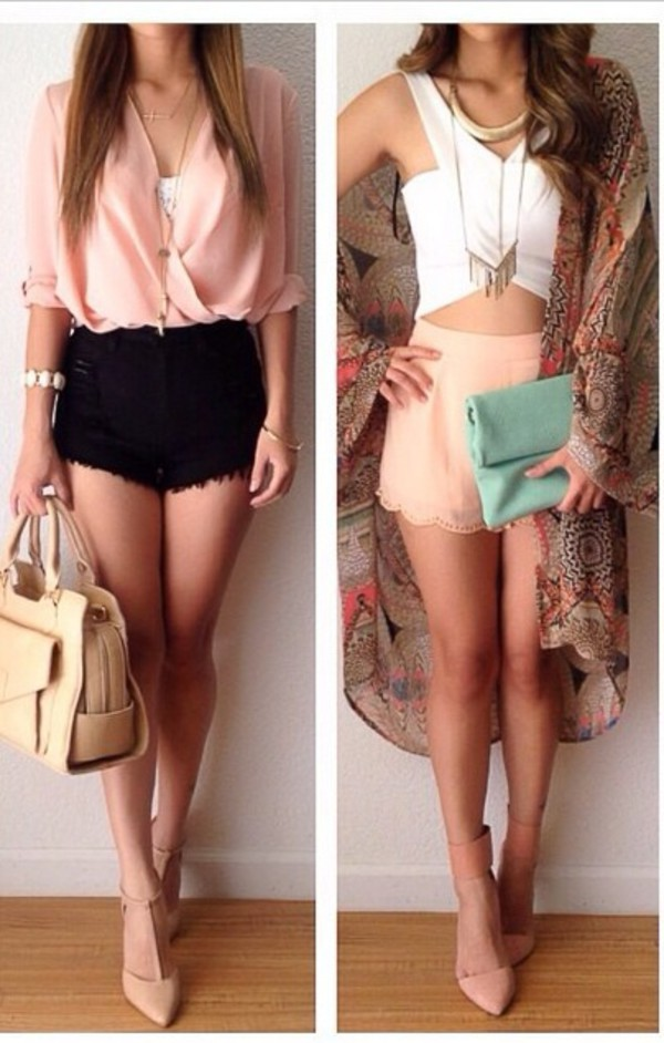 shorts blouse tank top bag cardigan