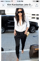blouse,kim kardashian,pants,shoes