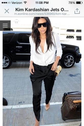 blouse kim kardashian pants shoes