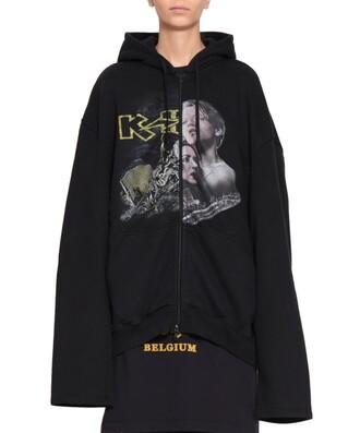 hoodie oversized cotton sweater