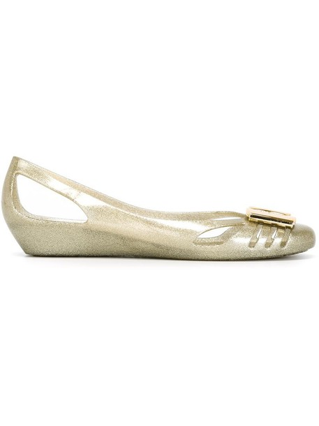 Salvatore Ferragamo women grey metallic shoes
