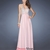 Pretty Halter Beadings Crisscross Back Long Chiffon Prom Dress PD11649
