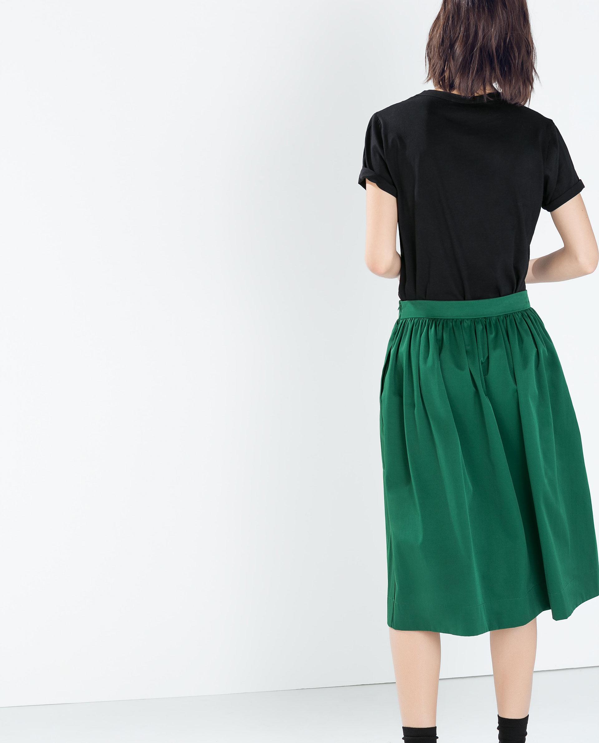 midi skirt skirts collection aw14 zara