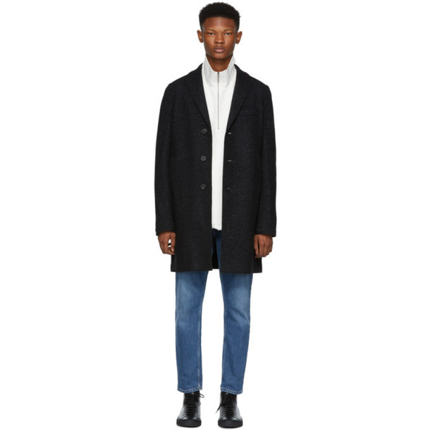 Harris Wharf London Black Cavalry Twill Boxy Coat