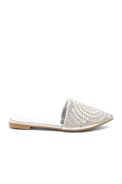by the way. metallic silver shoes