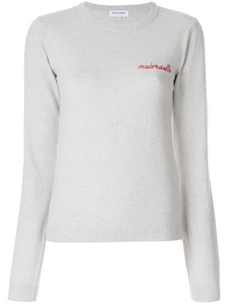 Maison Labiche jumper embroidered women grey sweater
