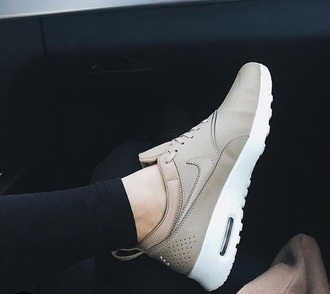 shoes cream nike nude sneakers air max nike sneakers