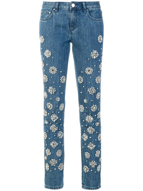 MICHAEL Michael Kors jeans women plastic embellished cotton blue
