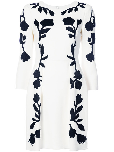 dress mini dress mini women spandex floral white print wool