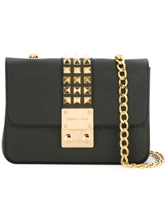 studded bag shoulder bag black