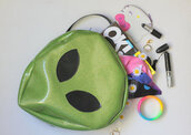 bag,Alias,green,green bag,alien,cool bag,grunge alien,alien smiley face,alien emoji,alienbag,alien green,grunge,grunge romper,peace