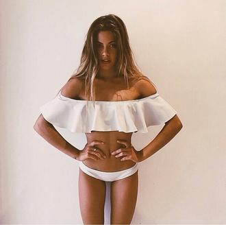 swimwear indie boho white swimwear white swimsuit swimsuit bathing suit swim bikini tumblr girl tumblr bikini on point clothing stylish style styled trending trendy trend popular popular fashion body goals popular blogger fashion inspo summer outfits