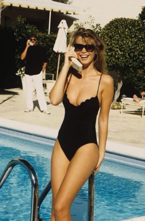 swimwear black one piece need  cute stylish one-piece one piece swimsuit black swimwear scalloped neckline vintage