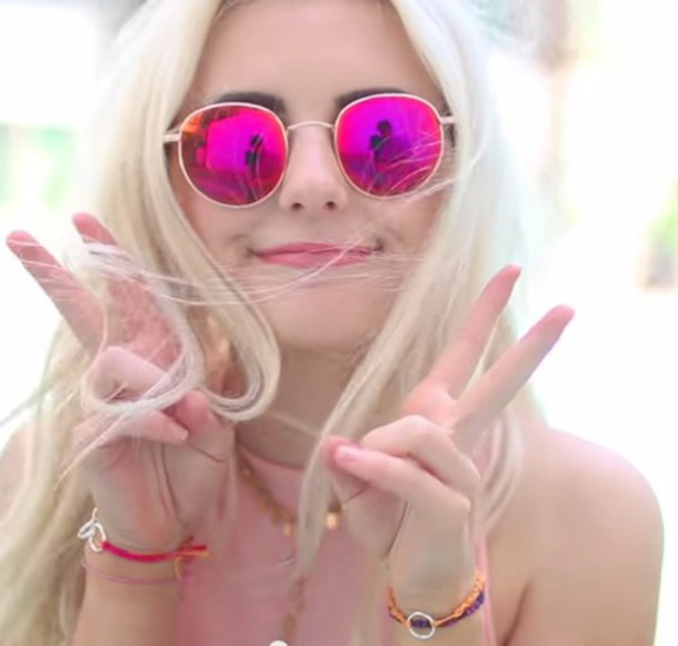 669cc103bc42 sunglasses sunnies pink reflective hot pink summer aspyn ovard