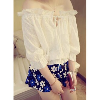 two-piece floral skirt chiffon blouse cute summer outfits girly korean fashion korean style spring outfits