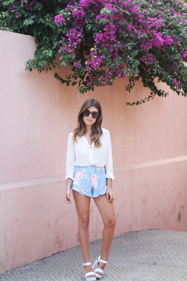 dulceida blouse sunglasses jewels shoes oysho