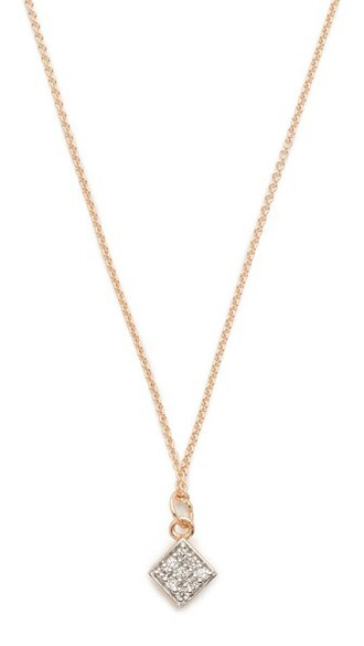 chain necklace mini clear necklace gold jewels