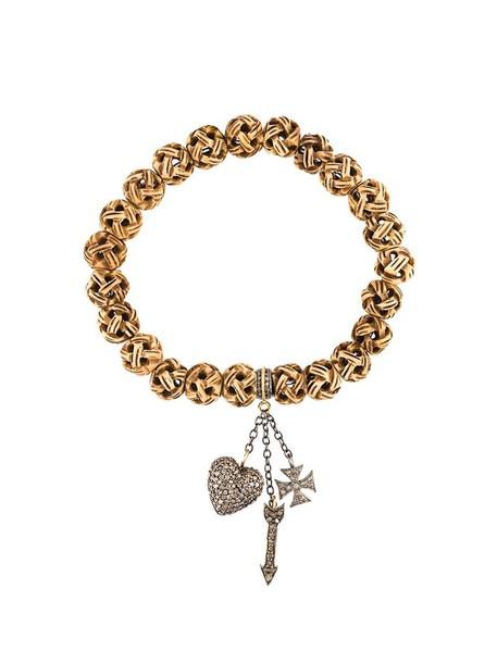 Loree Rodkin wood women charm bracelet silver nude grey jewels