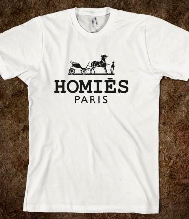 Homies paris towerofleandros skreened t shirts for Organic custom t shirts
