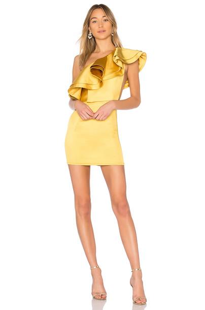 Michael Costello dress mini dress mini yellow