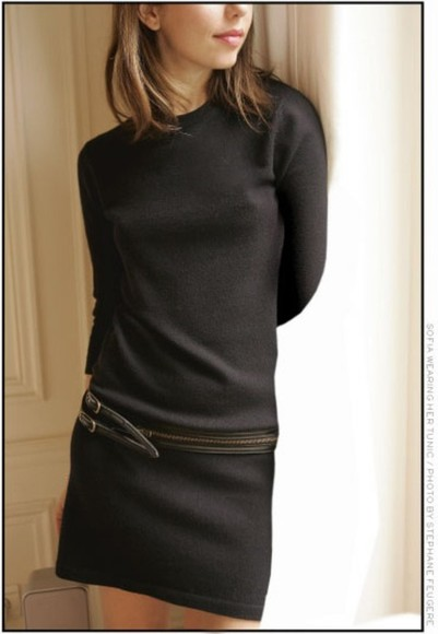 sofia coppola dress black cashmere