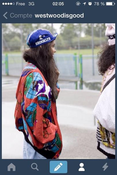 jacket multicolore jacket hat teddy women west
