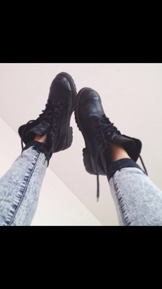 shoes black boots ankle boots lace up