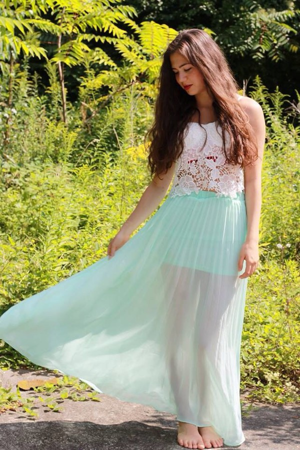 maxi dress maxi skirt mint dress mint skirt mint blogger instagram mintgreendress instagram dress