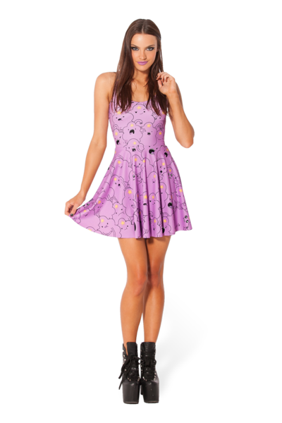 Lumpy Space Princess Reversible Skater Dress › Black Milk Clothing