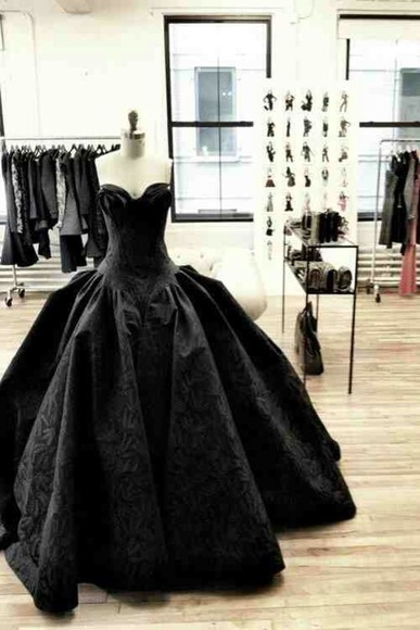 dress prom dress ball gown black prom dresses