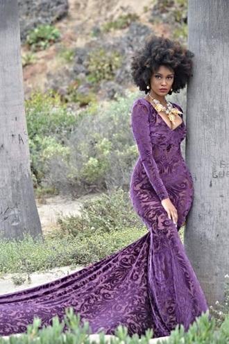 dress bodycon dress bodycon bodycon evening dress mermaid mermaid dresses velvet velvet dress purple purple dress v neck dress v neck sexy elegant long dress long sexy dress long sleeve dress
