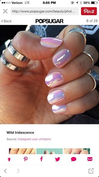 nail polish iridescent metallic nails