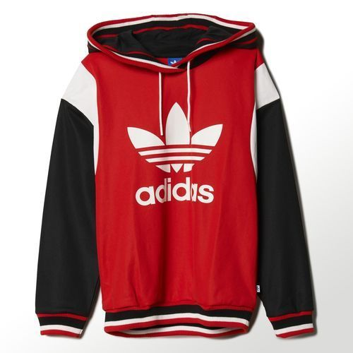 Adidas originals archive hoodie red/core white/black s87507