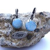 jewels,siggy jewelry,drop earrings,blue,opal,opal earrings,blue opal,style,boho chic,shabby chic,cute,pantone,pantone 2016,pantone color,blue accessory,trendy,fashion,etsy,shopping,etsy shop,shop local
