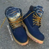 shoes,blue,navy,timberlands,denim shoes,dope,timberland boots shoes,timberlands boots,denim