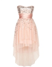 a short,high-low pink dress for a winter formal,dress,blush,sequins,high low,gorgeous,prom dress,sparkly dress,pink dress,brown dress,evening dress,style