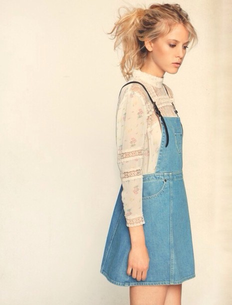 Denim Skirt Overall - Dress Ala