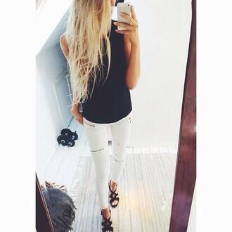 jeans leggings shoes