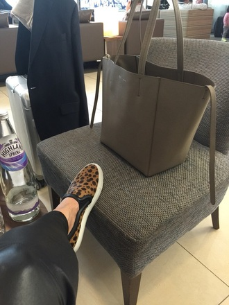 bag celine celine bag beige casual cabas style fashion relax givenchy shoes slip on shoes leopard print sneakers
