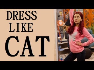 sweater ariana grande cat valentine victorious cats brunette brown haur pink sweater