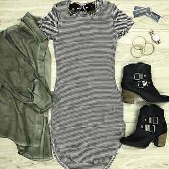 dress bodycon bodycon dress stripes striped dress jacket