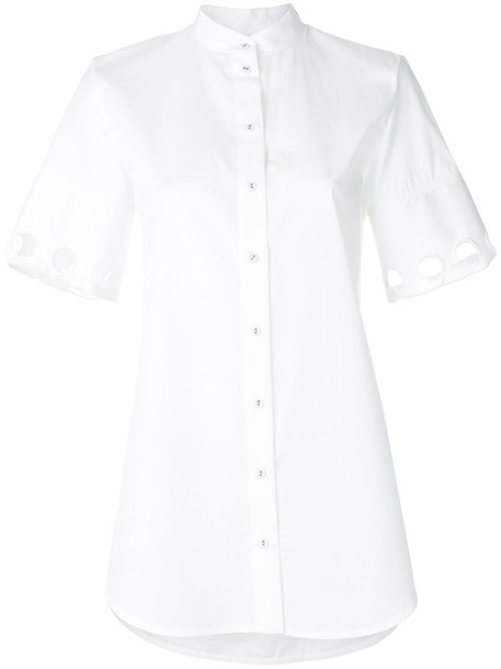 Victoria Victoria Beckham shirt collar shirt women white cotton top