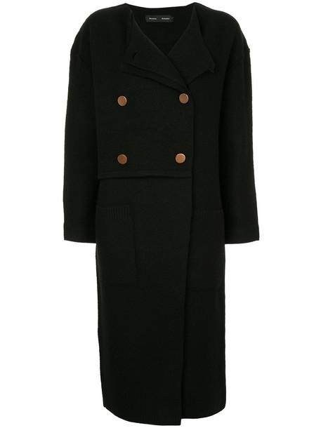 Proenza Schouler cardigan long cardigan cardigan double breasted long women black wool sweater