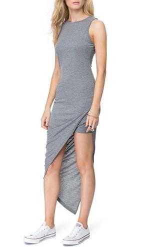 dress zaful slit dress grey slit dress long grey dress long dress bodycon dress long bodycon dress