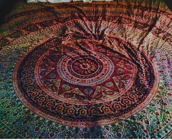 scarf bedding boho